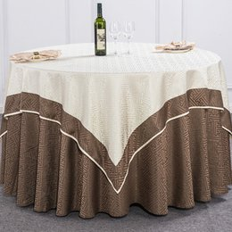 Discount Purple Round Tablecloths Luxurious Polyester Geometric  PatternCloth Circular Tablecloth Hotel Party Wedding Tablecloth Machine  Washable