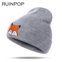 92c4cbd40d1 Ruinpop New Children Winter Hats Boys Girls Hats Autumn Woman Kids Warm Knitted  Hat Cotton Men Caps Hat Cute Skullies Beanies