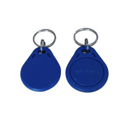 custom id cards Canada - Cheapest Factory prices High Quality EM4100 125khz 100pcs lot ISO11785 ABS RFID Custom Plastic Keyring Keychains tags Plastic ID key tags