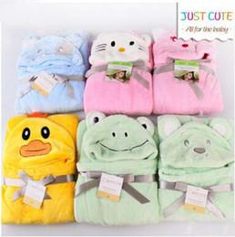 $enCountryForm.capitalKeyWord Canada - Hot Sale Baby Blankets Animal Cloak Blanket Coral Fleece Good Quality Kids Animal Cape Hooded Baby Bath Towel 8 Designs Discount