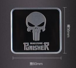 punisher sticker car 2019 - Aluminum alloy Sticker Car Motorsport Label Emblem Badge car styling 60x55mm for Punisher symbol Skull Head