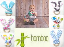 $enCountryForm.capitalKeyWord Canada - INS Baby Teethers 28Colors Natural Wood Circle With Rabbit Ear Fabric Newborn Teeth Practice Toys Training Handmade Ring