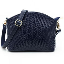 woven spring handbags 2019 - Wholesale- 2016 spring and summer women handbags woven-pattern Woman's Genuine cow Leather messenger bags lady cros