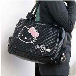 Boston Tote Bag Free Shipping Canada - New handbags Shoulder Bags for women Hello Kitty white tote  shoulder bag purse PU Zipper Free shipping HK0012