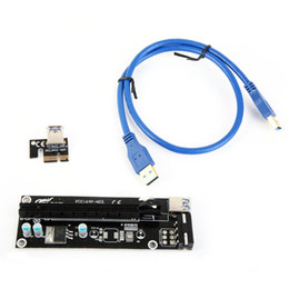 Pci E Power Supply Canada - PCIe PCI-E PCI Express Riser Card 1x to 16x USB 3.0 Data Cable SATA to 4Pin IDE Molex Power Supply for BTC Miner Machine