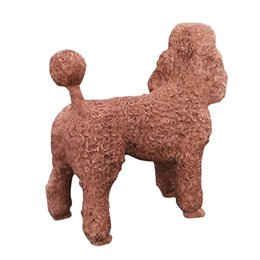 $enCountryForm.capitalKeyWord UK - Resin Dog Poodle Figure Hand Carved Puppy Statue 5.1Inches Art Crats sculpture for Dog Lover