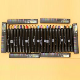 Barato Cores Mágicas Cosméticos-New Magic Eyeliner Pencil 25 cores Shimmer Cosméticos Maquiagem Sombra de olhos Pencil Glitter Waterproof Eyeshadow Stick Eye Liner
