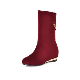 China Spring and Autumn simplified Korean version of the new high chain inside the red black boots GUOT 6355 suppliers