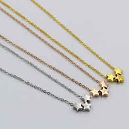 gold pendant design star Canada - stars Necklaces & Pendants New new design stainless steel Chains Female Jewelry Brand Necklace