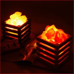 salt night light UK - HOT resin Himalayan crystal salt lamp table lamp light bedroom adornment night light lampsof the head of a bed