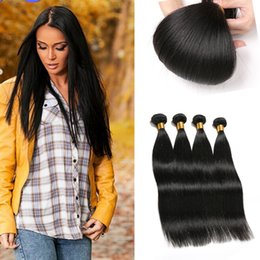 Hair Straightening Products Wholesale NZ - Rainbow Queen Hair Real 4 Bundle Deals Malaysian Hair Grade 8a Unprocessed Virgin Malaysian Hair Straight Wave Guangzhou Queen Products