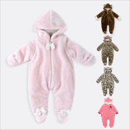 Wholesale High Quality Newborn Baby Rompers Months Baby Winter Clothes Long Sleeve Girl Boy Romper Warm Kids Outerwear Clothing LA382