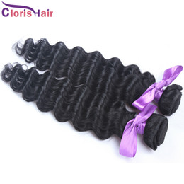 cheap 32 inch hair bundles 2019 - Limited Time 32% OFF Curly Remi Weft Unprocessed Malaysian Deep Wave Hair 2 Bundles Cheap Deep Curl Human Weaving Hair c