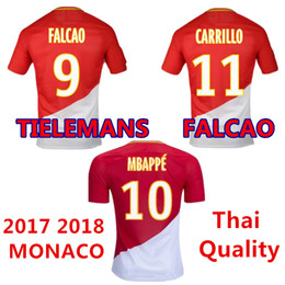 8be5e3af971 Tielemans Kongolo Maillot de foot 2017 2018 home Monaco FALCAO as soccer jerseys  Thai quality uniforms Mbappe football shirts 17 18 cheap ...