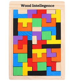 2018 tetris jigsaw puzzle Wholesale- Wooden Intelligence Game Wood IQ Puzzle Brain Teaser Jigsaw Tetris tetris jigsaw puzzle on sale
