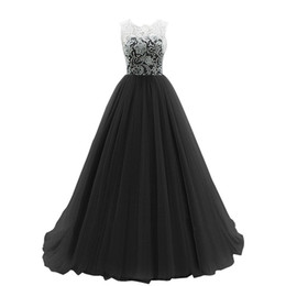 $enCountryForm.capitalKeyWord UK - Scoop Neck Lace Tulle A Line Evening Dress With Appliques 2017 Covered Button Evening Gowns Floor Length
