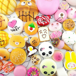 Donut bun styles online shopping - 30 styles Kawaii Squishy Rilakkuma Donut Soft Squishies Cute Phone Straps Bag Charms Slow Rising Squishies Jumbo Buns Phone Charms
