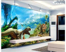 Vintage Kitchen Sets Canada - 3D photo wallpaper custom wall murals wallpaper 3 d dinosaur dreamy background wall paper tv setting 3d living room wall decor