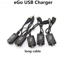 ego t herb Canada - eGO USB Cable Charger Electronic Cigarettes USB Charger for eGo eGo-T EGO-C EGO-W Vape Pen Dry Herb Vape E-Cigarette eGo 510 Thread Battery