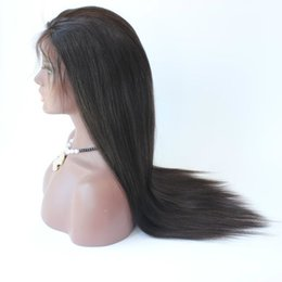 $enCountryForm.capitalKeyWord NZ - Fast shipping Natural Looking Glueless Full Lace Wig Brazilian Human Hair Silk Straight Lace Front Wigs For Black Women