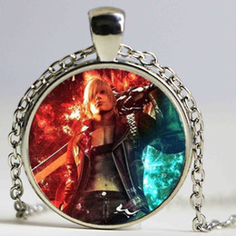 $enCountryForm.capitalKeyWord Australia - New Anime Game Necklace DMC Devil May Cry 5 Dante Glass Unisex Necklaces Pendants Chain Man Necklaces Colar Wholesale