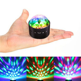 dj stage color changing ball NZ - USB Charge Disco Ball Lights Voice Control LED Party Light Mini Portable RGB DJ Stage Light