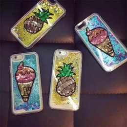 Cove Case Canada - Luxury Bling Bling Case For iPhone 5 5S SE 6 6S 7 Plus Colorful Liquid Glitter Quicksand 3D Case Dustproof Protective Cove