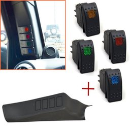 Black Left Side A-Pillar 4-Switch housing Pod for Jeep Wrangler JK 07-15 from dc speed controller 24v manufacturers