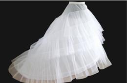 $enCountryForm.capitalKeyWord Canada - 2 Crinoline 3 Layer Yarn White Petticoat for Long Tail Wedding Dress Vestido de Noiva Crinoline Rockabilly Petticoat Accessories