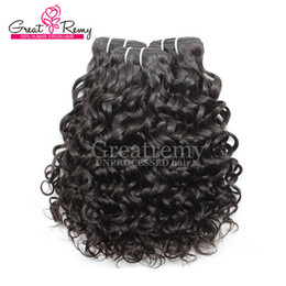 Big Curly Hair Weave Canada - Greatremy® 8A Water Wave Brazilian Hair Extension Big Curly 100% Unprocessed Virgin Human Hair Bundle 3pcs lot Dyeable Ocean Hair Weave Weft