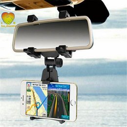 Discount tablet cradle holder car - Universal Car Rearview Mirror Mount holder Stand Cradle for IOS Android Mobile phone MP3 MP4 Tablet GPS holder