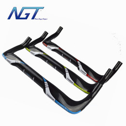 tt handlebar carbon UK - Factory Prices Bike Carbon Handlebar Full Bicycle TT Bar Have a Rest Handlebars 31.8mm *380-440mm New Guy Steps