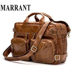 men leather tote bags 2019 - Wholesale- Genuine Leather Men Bag Fashion Men's Business Briefcase Men Messenger Bags Handbag Tote Shoulder Bags 1