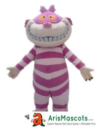 $enCountryForm.capitalKeyWord Canada - 100% real photos adult size funny Cheshire Cat Mascot costume cartoon character mascots fancy dress costumes kids carnival party dress