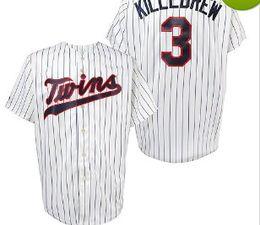 5135a567c ... .3 Harmon Killebrew white .Minnesota Twins Throwback Jersey Mens 4 Paul  Molitor 14 Kent ...