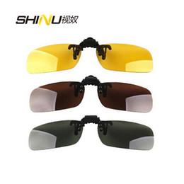 $enCountryForm.capitalKeyWord UK - Clips On Sunglasses Lens Polarized Day Vision Flip Up Clip On Glasses Yellow Lens For Night Driving Eyeglass 5pcs lot