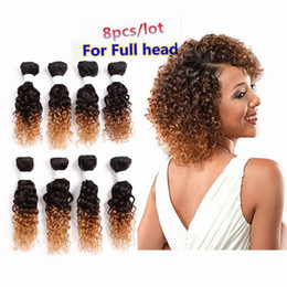 Loose Kinky Curly Hair Canada - deep curly brazilian hair burgundy loose wave Human Hair Weaves Peruvian Malaysian 250g kinky curly 8bundles ombre brown blended weft hair