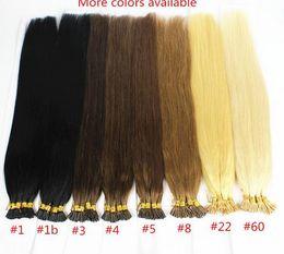 $enCountryForm.capitalKeyWord Canada - 1g s 100g Human Remy Hair Ash Brown Platinum Blonde Straight Custom Capsule Keratin Stick I-tip Human Hair Extensions