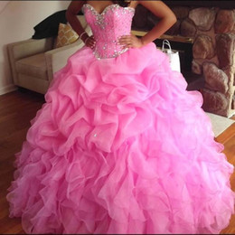 $enCountryForm.capitalKeyWord Canada - Mint Green Ball Gown Quinceanera Dresses Sweetheart Crystal Organza Plus Size Light Purple Sweet 16 Dresses Lace Up Back