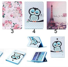 China Wallet Leather Australia - Flower Beautiful Cover Owl PU Leather Fashion Wallet Flip Magnetic Case For Samsung Galaxy Tab A 8.0 T350 Tab A 9.7 T550