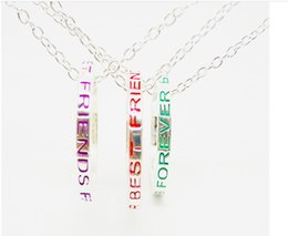 Wholesale 3 Forever In My Heart Ring Necklaces Friendly Peace Colorful Best Friend Pendant for Women Men Jewelry