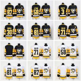 Men 2018 Pittsburgh Penguins Jerseys 87 Sidney Crosby Phil Kessel Mario  Lemieux 30 Matt Murray 71 Evgeni Malkin 3 Olli Maatta Hockey Jerseys fbdb084d6