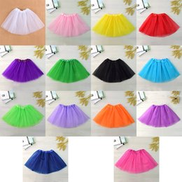 Robes De Ballet De Danse Enfantine Pas Cher-14 couleurs Baby Girls Childrens Kids Ballet Tutu Dress Up Dance Wear Costume Party Girls Toddler Kids Skirt Candy couleur ballet Cake jupe