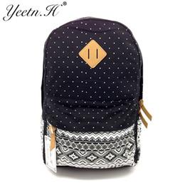 Wholesale 2017 New Arrival Women School Bags For Teenage Canvas Printing Backpack Cute Bookbags Vintage Laptop Backpacks Female M3455 Supplier