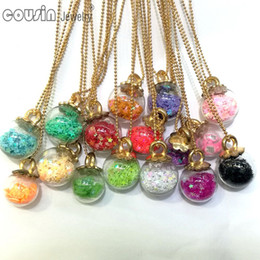 $enCountryForm.capitalKeyWord Canada - DZ0195 New Arrivals 30pcs lot 30styles Glass Bottle lucky star Pendant Snake Chain necklace for Woman Dress Fashion Design jewelry