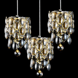 lustre bar 2020 - Modern Fashion Creative K9 Crystal Pendant Lights American Bar Living Room LED Lustre Suspension Lamp Amber Clear Smoky