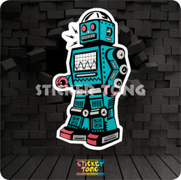 $enCountryForm.capitalKeyWord Canada - ELECTRIC WAVE ROBOT STICKER ( repeating bike skateboard deck notebook laptop car wall Motorcycle stickerbomb Fixed Gear)