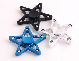 $enCountryForm.capitalKeyWord Australia - Aluminum Five Pointed Star Fidget Spinner Pentagram Hand Spinners Hollow Out Metal Spinning Top Keep Hands Busy Finger Toys