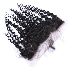 Bulk Hair Dye NZ - Can Be Dyed Ombre Color Natural Color Brazilian Peruvian Indian 13*4 Loose Curly Lace Frontal Human Virgin Remy Unprocessed Hair Extensions