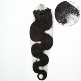 Blonde Remy Prebonded Hair Extensions Australia - Wholesale cheap loop micro ring hair extensions 1g pcs body wave remy human hair extensions 100g pack prebonded hair